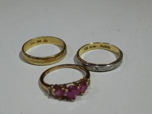 18金やプラチナの指輪の買取がありました。