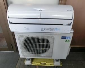 西区の外国のお客様からルームエアコン MSZ-EM40E2S-W 三菱 2014年 4,0kwの買取