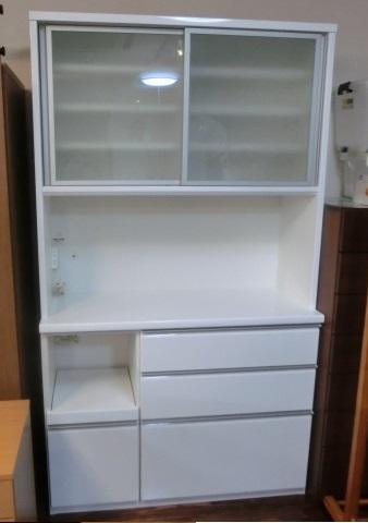松田家具 キッチンボード 白系 入荷しました!